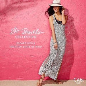 CAbi Twist-Back Maxi Dress